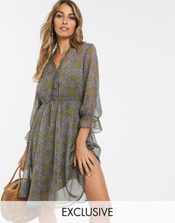 ワイエーエス レディース ワンピース トップス Y.A.S paisley frill detail mini dress Multi