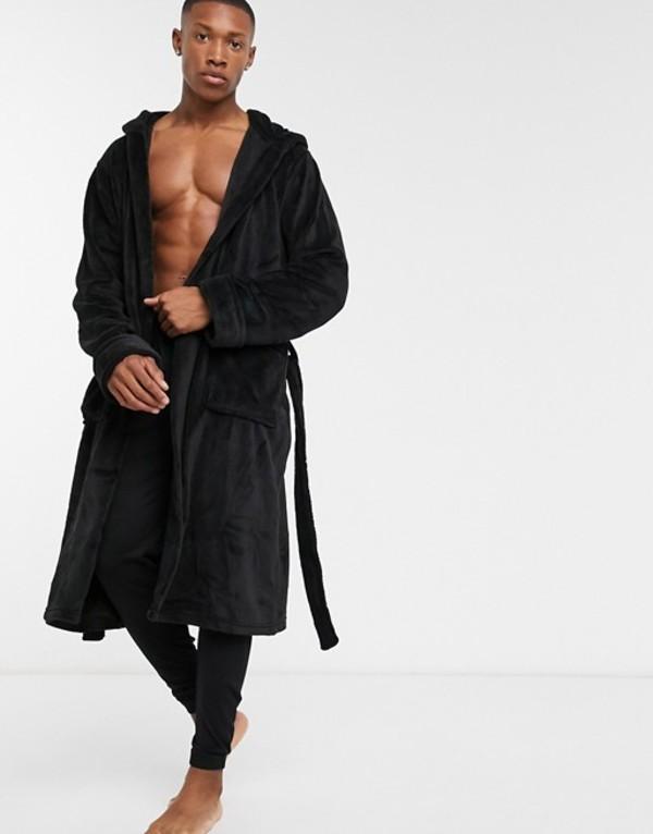 フレンチコネクション メンズ コート アウター French Connection hooded robe Black