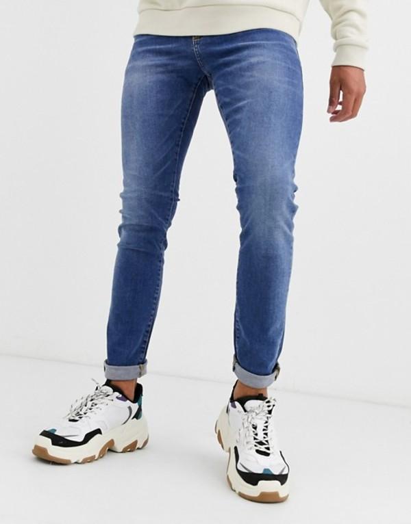 ニュールック メンズ デニムパンツ ボトムス New Look skinny jeans in bright blue wash Bright blue