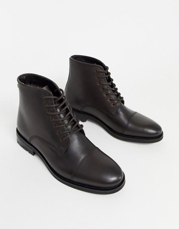 ベンシャーマン メンズ ブーツ・レインブーツ シューズ Ben Sherman lace up boot in brown Brown