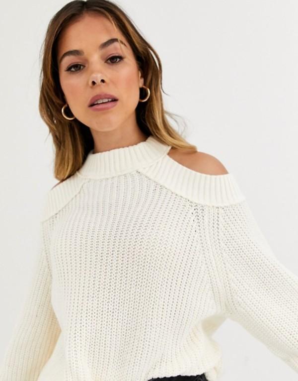 フリーピープル レディース ニット・セーター アウター Free People Half Moon high neck sweater Ivory