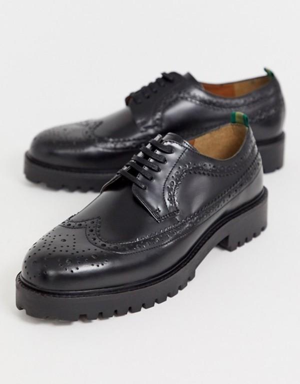 ウォークロンドン メンズ スリッポン・ローファー シューズ WALK London sean brogues in high shine black Black