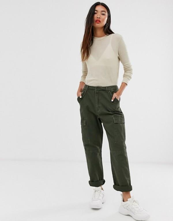 オンリー レディース カジュアルパンツ ボトムス Only cargo utility pants Green