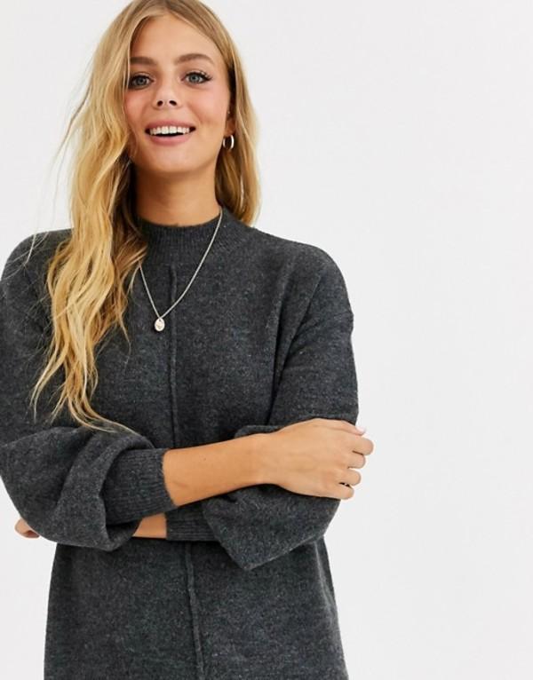エイソス レディース ワンピース トップス ASOS DESIGN fluffy midi dress with seam detail Charcoal8n0OwPk