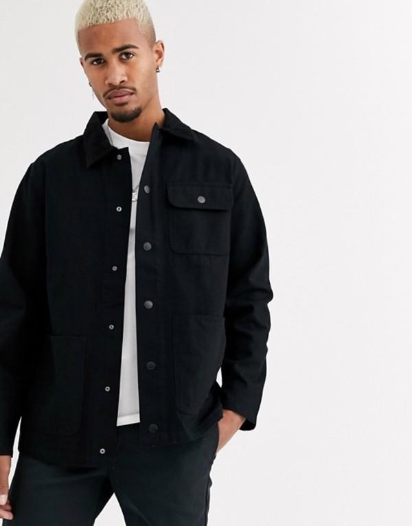 バンズ メンズ ジャケット・ブルゾン アウター Vans jacket in black Black