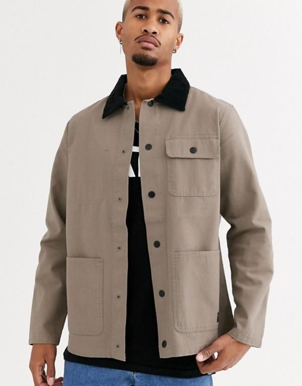バンズ メンズ コート アウター Vans jacket in beige Brown