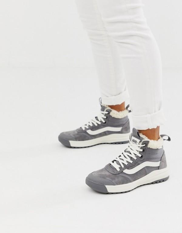 バンズ レディース スニーカー シューズ Vans UltraRange HI MTE sherpa gray sneakers Mte sherpa/quiet sha
