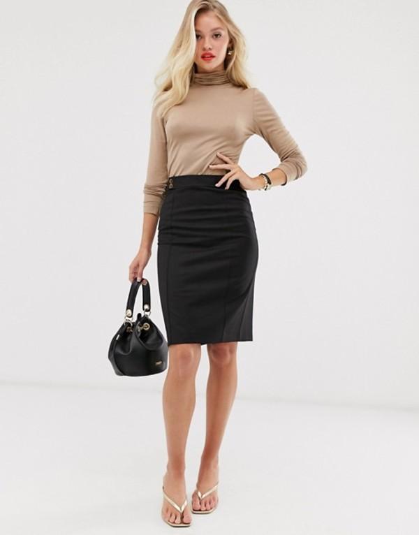マンゴ レディース スカート ボトムス Mango pencil skirt in black Black