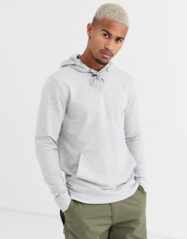 オンリーアンドサンズ メンズ パーカー・スウェット アウター Only & Sons basic hoodie in gray Light grey melange