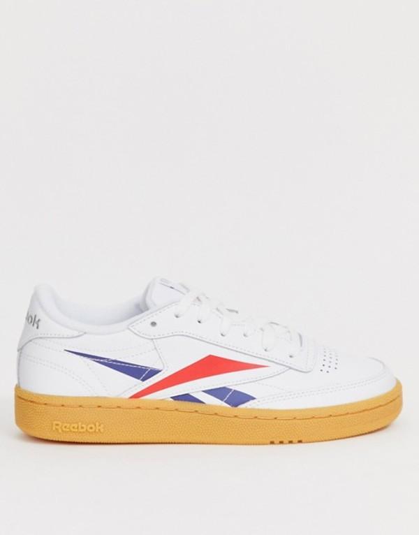 リーボック レディース スニーカー シューズ Reebok Club C sneakers with large vector logo White