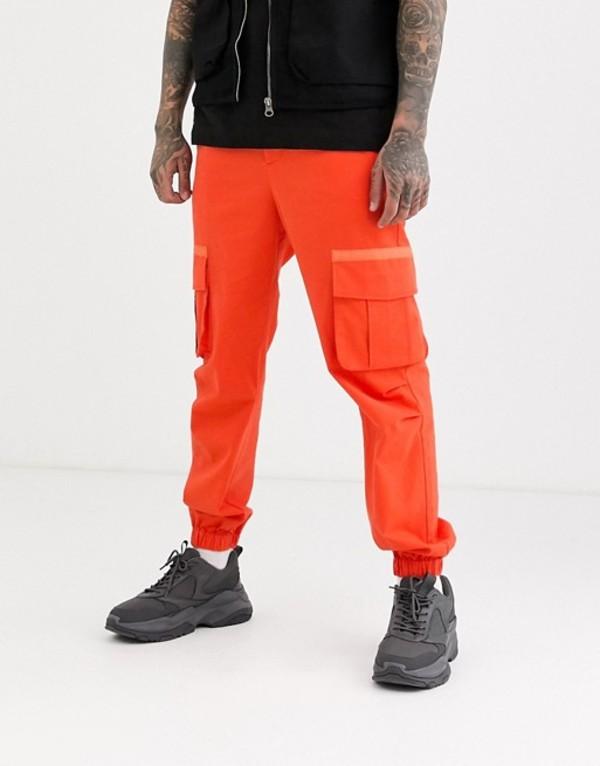 エイソス メンズ カジュアルパンツ ボトムス ASOS DESIGN cargo pants in orange Orange