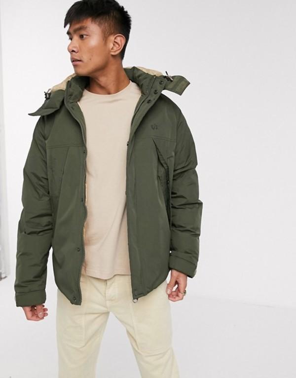 エレメント メンズ ジャケット・ブルゾン アウター Element Abenaki puffer jacket in green Green