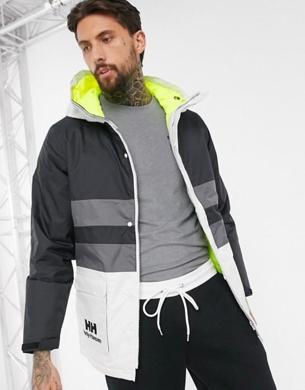 ヘリーハンセン メンズ ジャケット・ブルゾン アウター Helly Hansen Yu Ins rain jacket in black/white Black