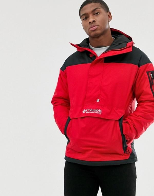 コロンビア メンズ ジャケット・ブルゾン アウター Columbia Challenger pullover jacket in red Red