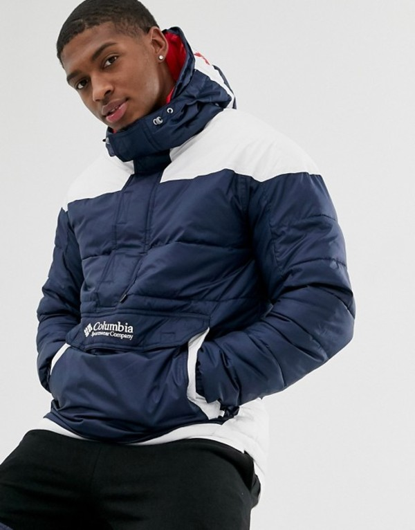 コロンビア メンズ ジャケット・ブルゾン アウター Columbia Columbia Lodge pullover jacket in navy Navy