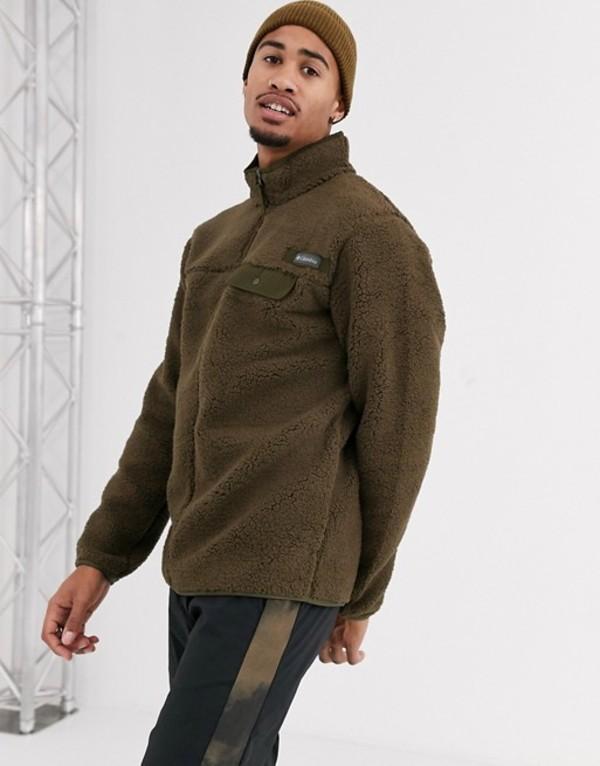 コロンビア メンズ ニット・セーター アウター Columbia Mountain Side Heavy full zip fleece in green Green