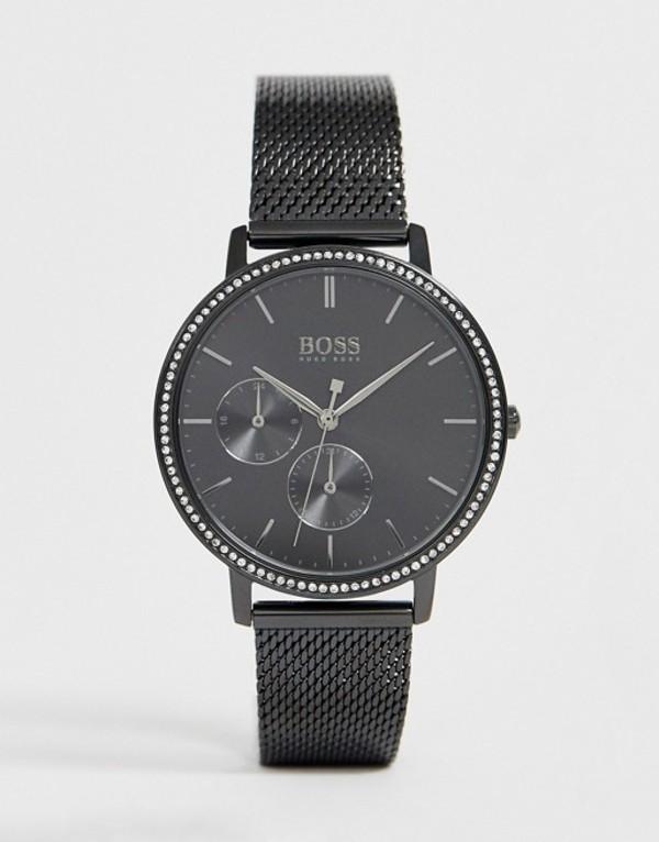 ボス メンズ 腕時計 アクセサリー BOSS 1502521 Infinity mesh watch Black