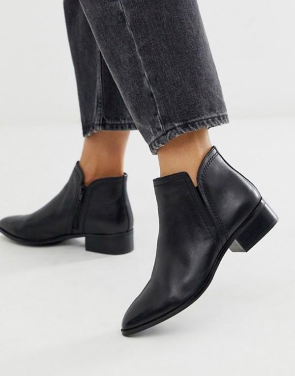 アルド レディース ブーツ・レインブーツ シューズ ALDO Kaicien leather low rise boot in black Black leather