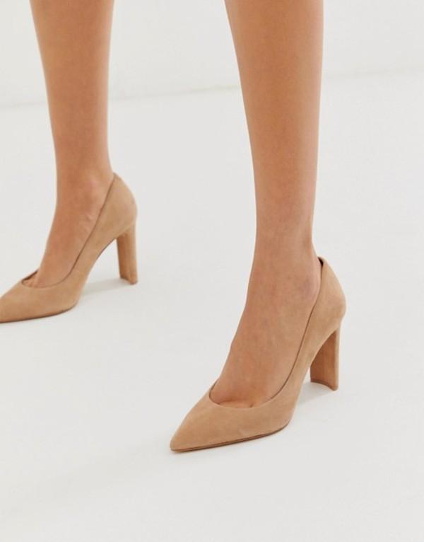 アルド レディース ヒール シューズ ALDO Febriclya block heel pumps Camel suede