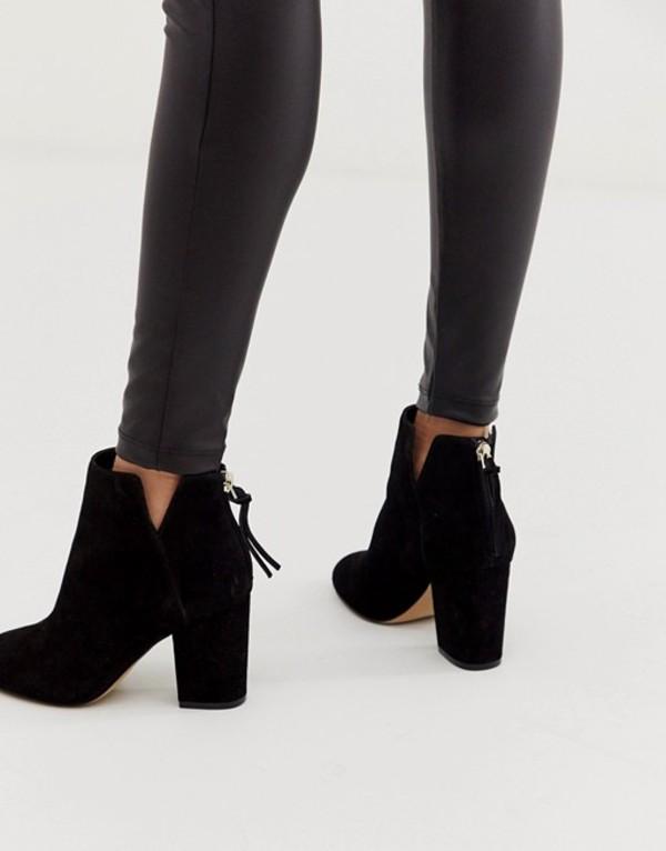 アルド レディース ブーツ・レインブーツ シューズ ALDO Dominicaa kitten heel boot in black suede Black suede