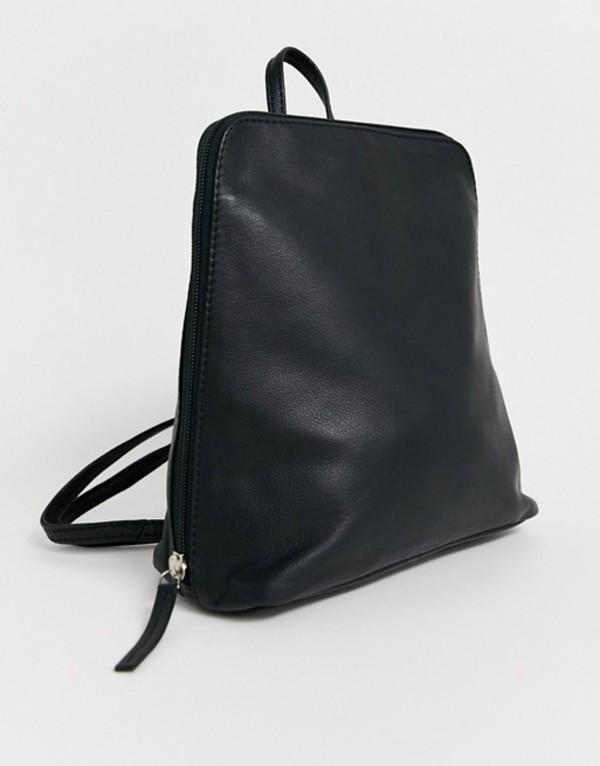エイソス レディース バックパック・リュックサック バッグ ASOS DESIGN clean leather backpack Black