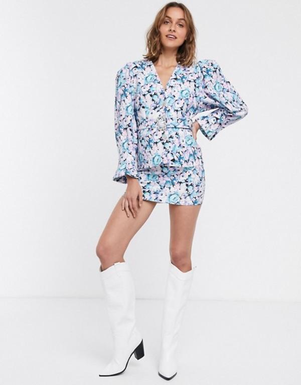 エイソス レディース スカート ボトムス ASOS DESIGN floral print suit skirt Floral