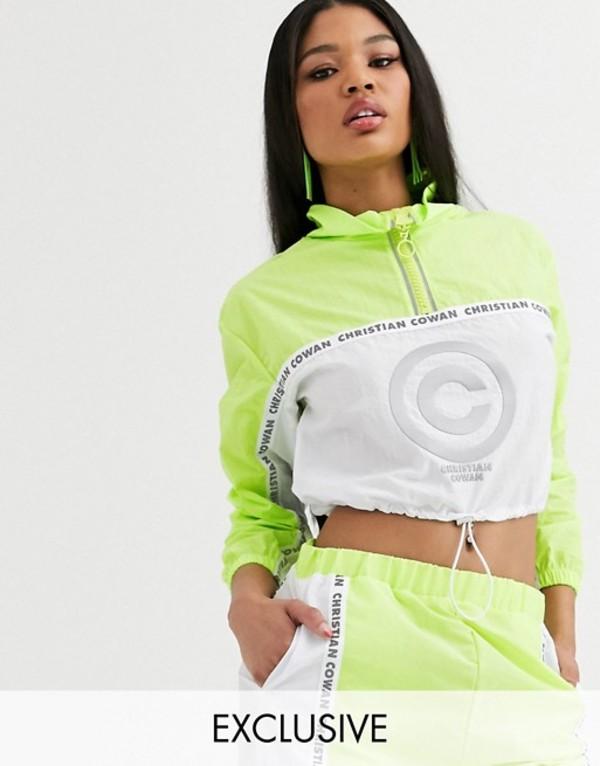 エイソス レディース ジャケット・ブルゾン アウター ASOS DESIGN x Christian Cowan logo track jacket two-piece Lime