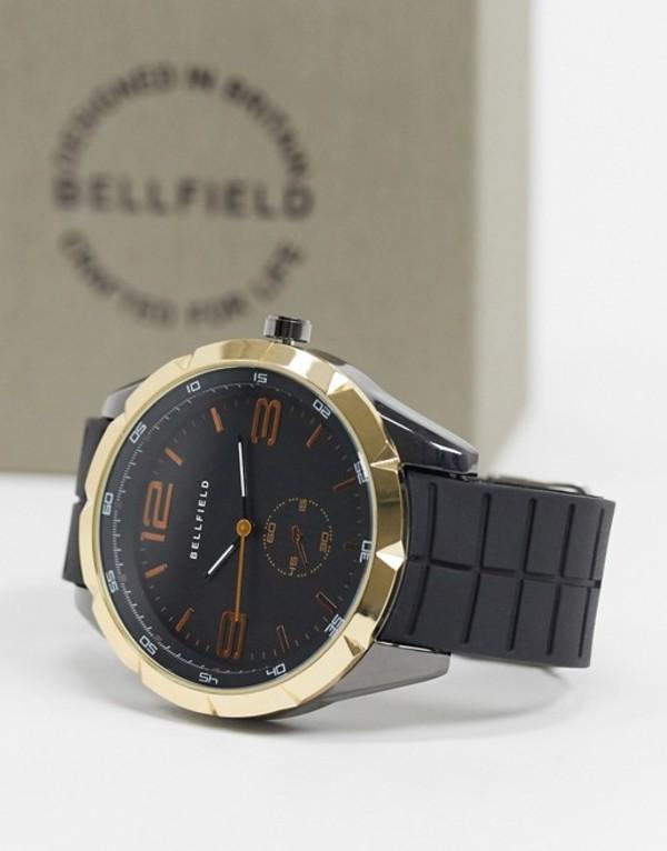 ベルフィールド メンズ 腕時計 アクセサリー Bellfield mens watch with gold edge Black