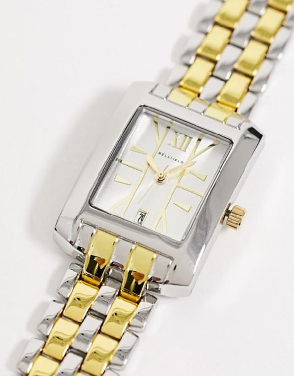 ベルフィールド メンズ 腕時計 アクセサリー Bellfield mens square bracelet watch in multi tone Multi