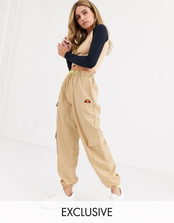 エレッセ レディース カジュアルパンツ ボトムス Ellesse high waist cargo pants with pockets Beige