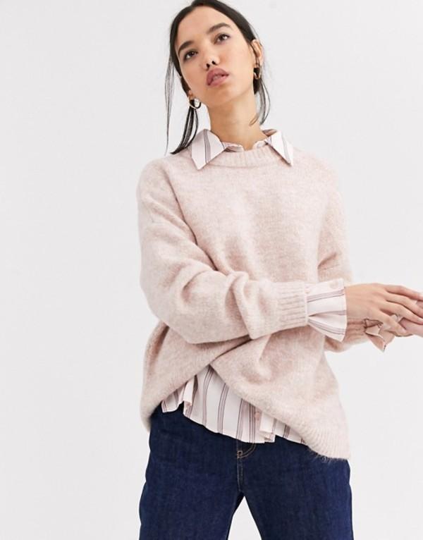 オンリー レディース ニット・セーター アウター Only Zoe long sleeve sweater Misty rose