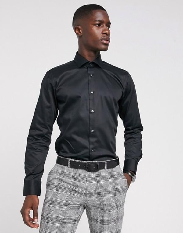 テッドベーカー メンズ シャツ トップス Ted Baker slim fit shirt in black Black