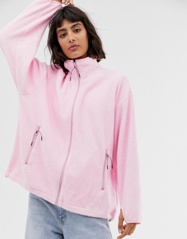 ウィークデイ レディース ジャケット・ブルゾン アウター Weekday micro fleece jacket in bubble pink Bubble pink