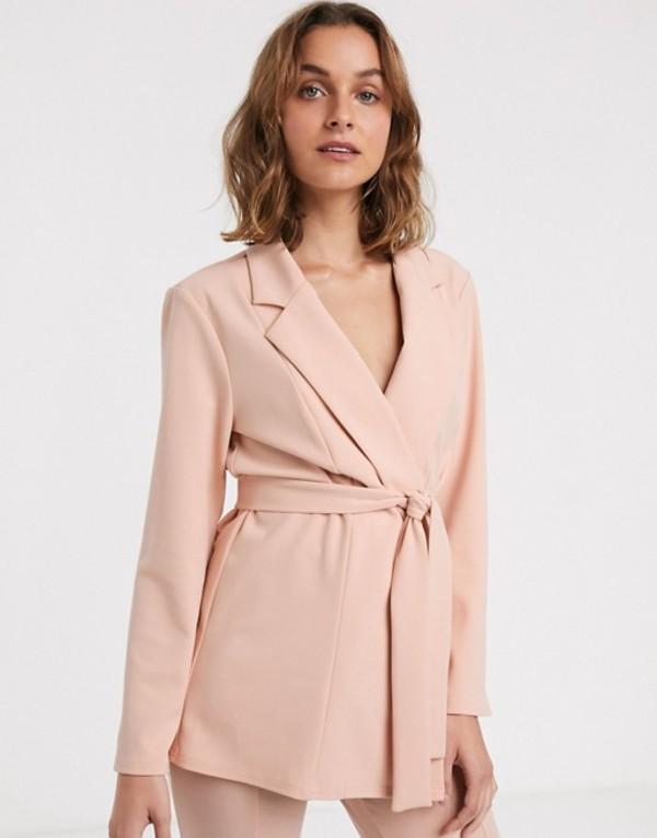 エイソス レディース ジャケット・ブルゾン アウター ASOS DESIGN jersey wrap suit blazer in blush Blush