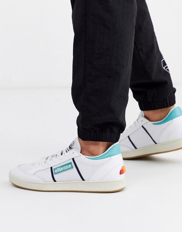 エレッセ メンズ スニーカー シューズ Ellesse LS-80 leather sneaker in blue White