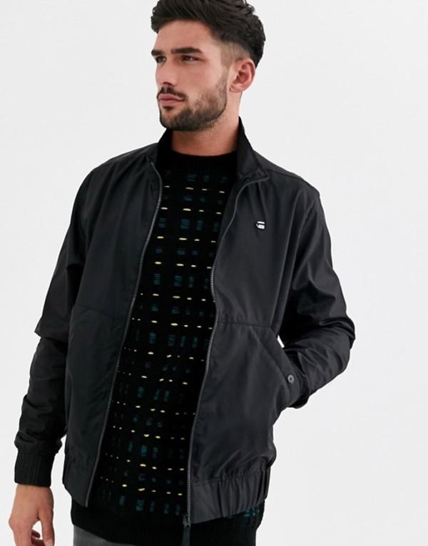 ジースター メンズ ジャケット・ブルゾン アウター G-Star Deline track nylon jacket Black
