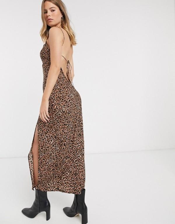 ビラボン レディース ワンピース トップス Billabong Love Bias maxi dress with side-split in animal Multi