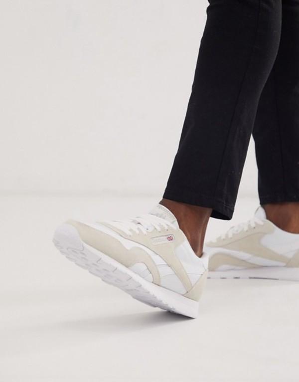 リーボック メンズ スニーカー シューズ Reebok Classic nylon sneakers in white Wh1 - white 1