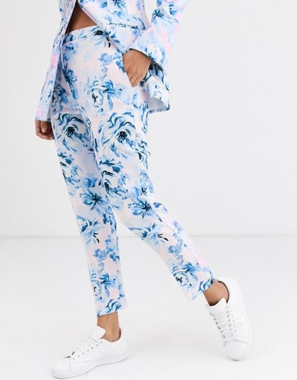 エイソス レディース カジュアルパンツ ボトムス ASOS DESIGN pink floral suit pants Floral