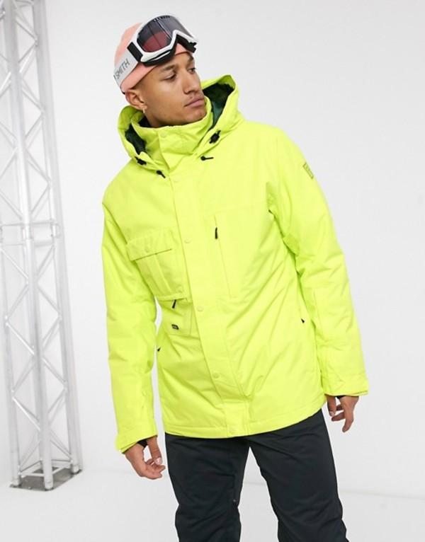 ビラボン メンズ コート アウター Billabong Shadow ski jacket in neon green Green