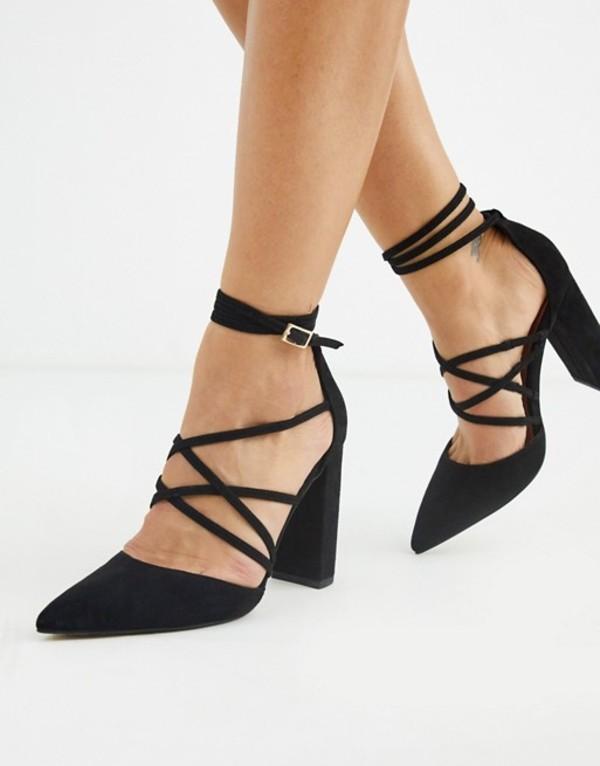 エイソス レディース ヒール シューズ ASOS DESIGN Pick Me Up high block heels in black Black