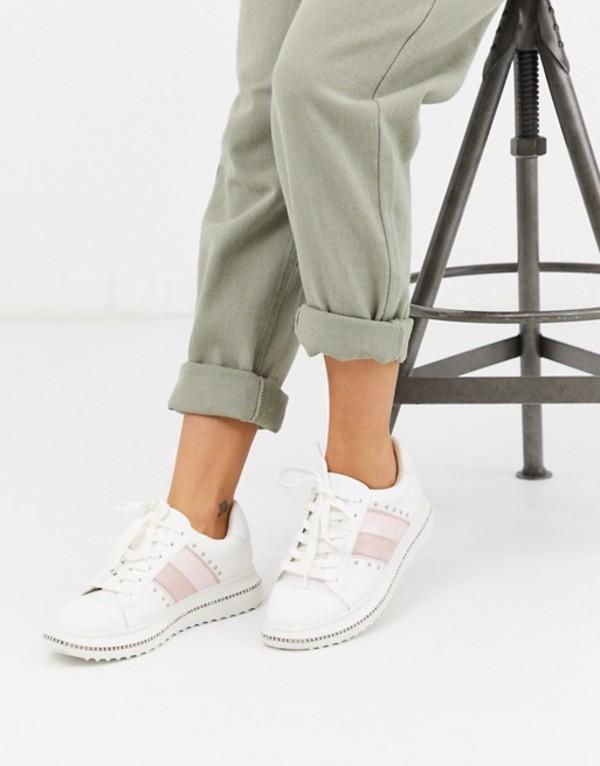 エイソス レディース スニーカー シューズ ASOS DESIGN Dote chunky sneakers with studs in white White
