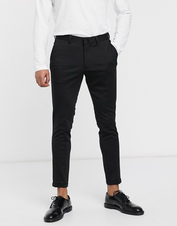 セレクテッドオム メンズ カジュアルパンツ ボトムス Selected Homme skinny fit formal pants Black
