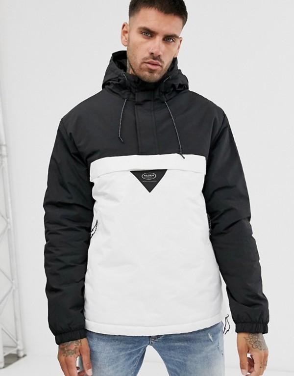 プルアンドベアー メンズ ジャケット・ブルゾン アウター Pull&Bear Join Life overhead jacket in black Black