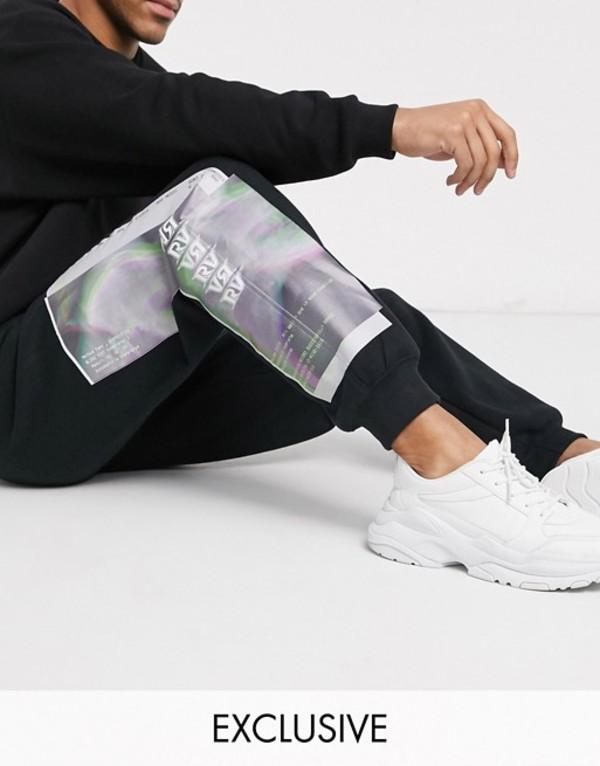 リクレイム ヴィンテージ メンズ カジュアルパンツ ボトムス Reclaimed Vintage printed jogger Black
