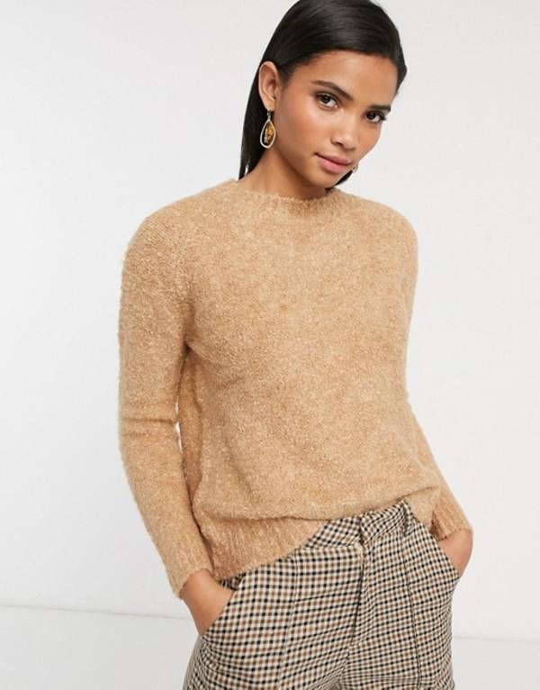 マンゴ レディース ニット・セーター アウター Mango soft sweater in camel Beige
