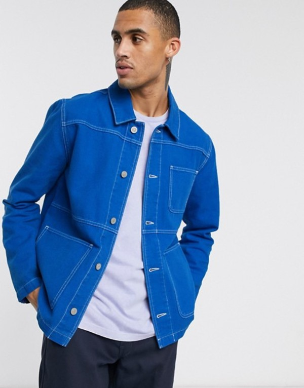 エイソス メンズ ジャケット・ブルゾン アウター ASOS DESIGN worker denim jacket in blue Blue