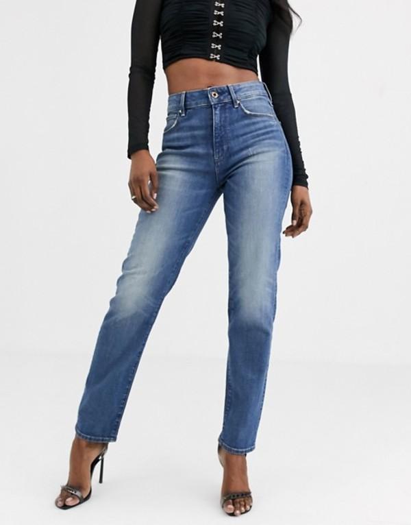 ジースター レディース デニムパンツ ボトムス G-Star 3301 high waist straight 90's ankle jean Antic indigo