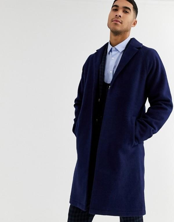 ハリー ブラウン メンズ コート アウター Harry Brown premium wool blend cocoon coat Ink