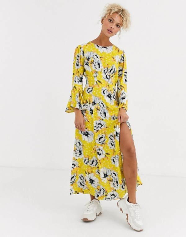 ゴースト レディース ワンピース トップス Ghost luisa floral midi dress in crepe Floral print